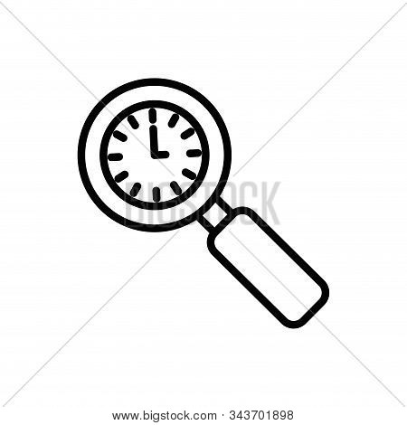 Clock Instrument Inside Lupe Design, Time Tool Watch Second Deadline Measure Countdown And Object Th