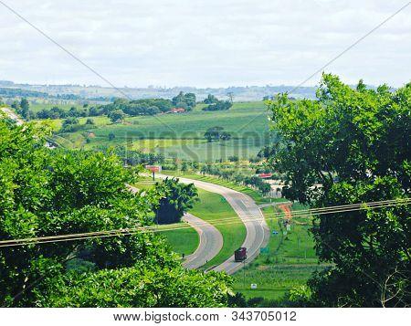 Paisagem Estrada Da Vida No Campo Uma Bela Foto