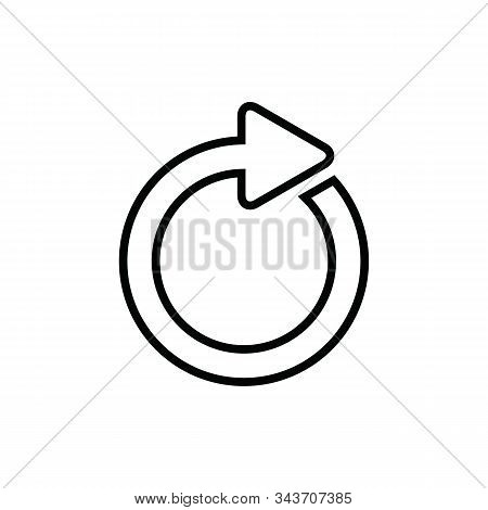 Repeat Icon. Repeat Icon Vector Flat Illustration For Graphic And Web Design Isolated On Black Backg