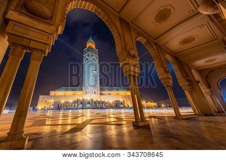 The Hassan Ii Mosque Is A Mosque In Casablanca, Morocco. It Is The Largest Mosque In Africa, And The