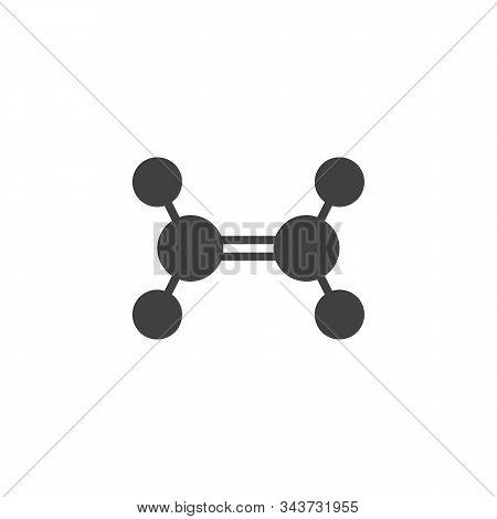 Ethylene Molecule Structure Vector Icon. Filled Flat Sign For Mobile Concept And Web Design. Trigona