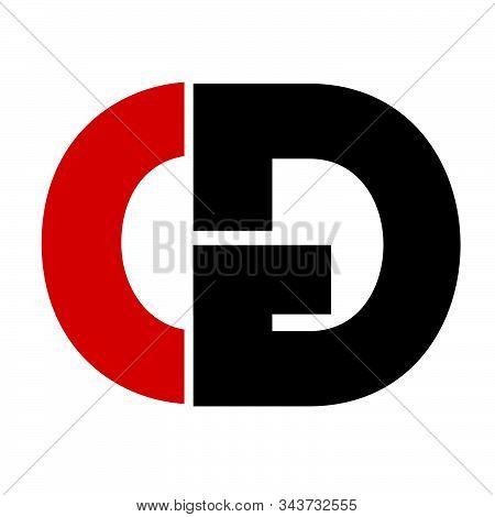 Cg, Gc Initial Geometric Company Logo And Vector Icon