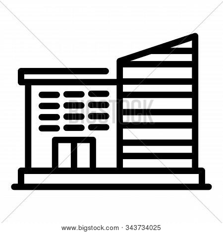 University Building Icon. Outline University Building Vector Icon For Web Design Isolated On White B