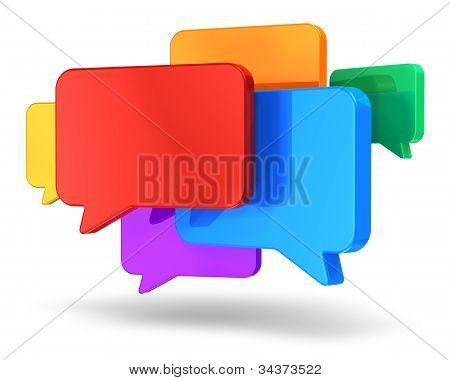 Concepto social de redes y chat