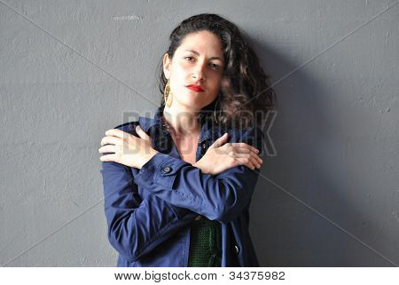 young woman,arms crossed