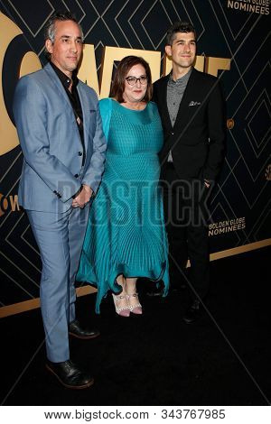 LOS ANGELES - JAN 4:  Jeremy Gold, Marci Wiseman, Chris Dickie at the Showtime Golden Globe Nominees Celebration at the Sunset Tower Hotel on January 4, 2020 in West Hollywood, CA