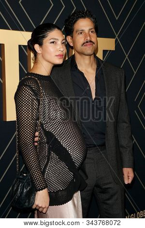 LOS ANGELES - JAN 4:  Grace Gail, Adam Rodriguez at the Showtime Golden Globe Nominees Celebration at the Sunset Tower Hotel on January 4, 2020 in West Hollywood, CA