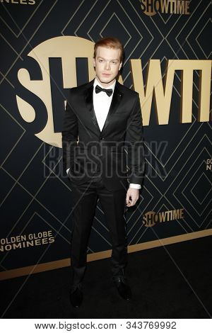 LOS ANGELES - JAN 4:  Cameron Monaghan at the Showtime Golden Globe Nominees Celebration at the Sunset Tower Hotel on January 4, 2020 in West Hollywood, CA