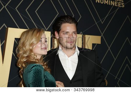 LOS ANGELES - JAN 4:  Molly Burnett, Dominic Sherwood at the Showtime Golden Globe Nominees Celebration at the Sunset Tower Hotel on January 4, 2020 in West Hollywood, CA