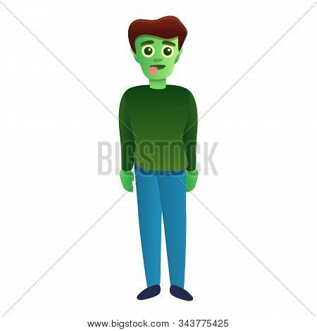 Dead Zombie Icon. Cartoon Of Dead Zombie Vector Icon For Web Design Isolated On White Background