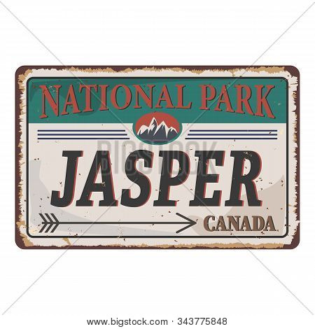 Jasper National Park Canadian Mountains Icon. Simple Illustration Of Canadian Mountains Vector Icon