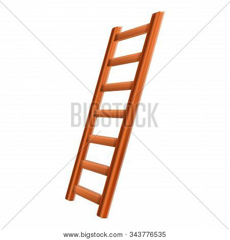 Ladder Inventory Icon. Cartoon Of Ladder Inventory Vector Icon For Web Design Isolated On White Back