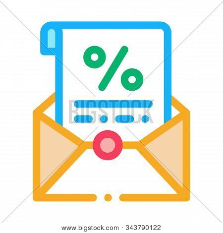 Printed Interest Letter Icon Vector. Outline Printed Interest Letter Sign. Isolated Contour Symbol I