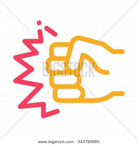 Strength Fist Punch Icon Vector. Outline Strength Fist Punch Sign. Isolated Contour Symbol Illustrat