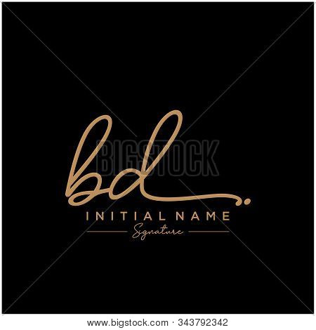 Letter Initial Bd Signature Logo Template Vector