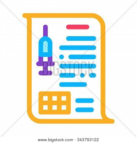 Physician Injection Appointments Icon Vector. Outline Physician Injection Appointments Sign. Isolate
