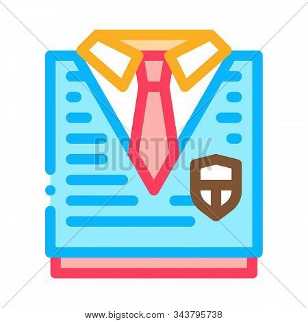 Academy Uniform Concept Icon Vector. Outline Academy Uniform Concept Sign. Isolated Contour Symbol I