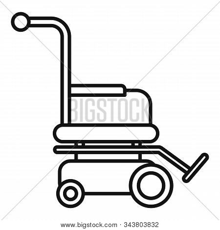 Motor Wheelchair Icon. Outline Motor Wheelchair Vector Icon For Web Design Isolated On White Backgro