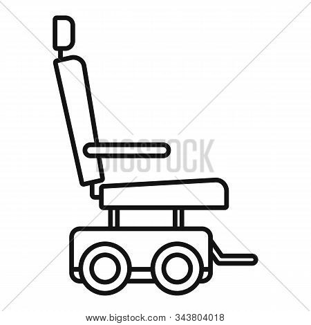 Motor Power Wheelchair Icon. Outline Motor Power Wheelchair Vector Icon For Web Design Isolated On W