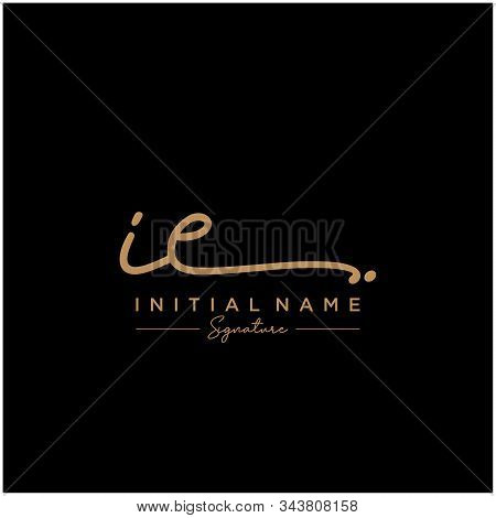 Letter Initial Ie Signature Logo Template Vector