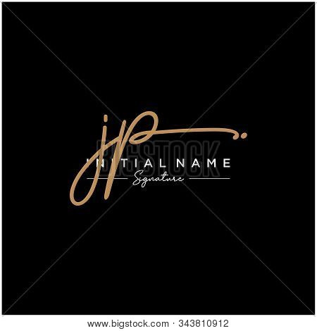 Letter Initial Jp Signature Logo Template Vector