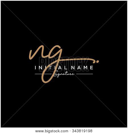 Letter Initial Ng Signature Logo Template Vector