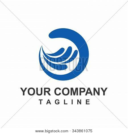 Cg Initials Blue Water Wind Aqua For Water Treatment And Water Company Logo