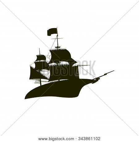 Cruiser Ship In The Sea Logo And Icon