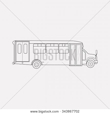 Airport Shuttle Icon Line Element. Vector Illustration Of Airport Shuttle Icon Line Isolated On Clea