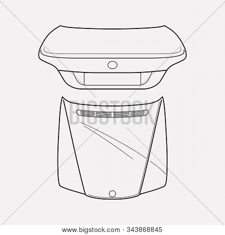 Hoods Icon Line Element. Vector Illustration Of Hoods Icon Line Isolated On Clean Background For You
