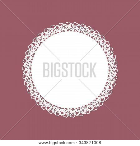 Cute Decorative Vintage Fabric Openwork Lace Doily Design. Doyley - The Result Of Needlework-crochet