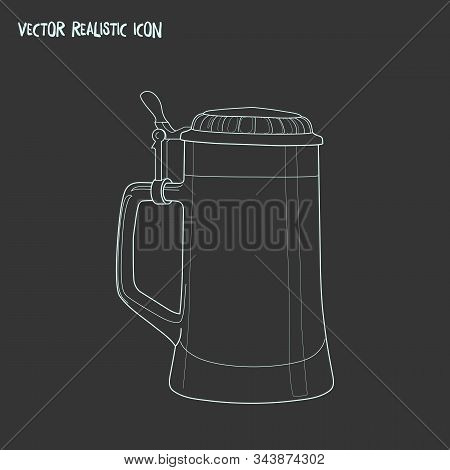 Beer Steins Icon Line Element. Illustration Of Beer Steins Icon Line Isolated On Clean Background Fo