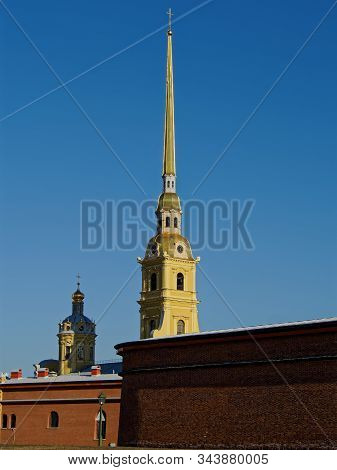 Geometry Of The Architecture Of The Peter And Paul Fortress In St. Petersburg.