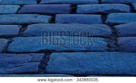 Cobblestones That Paved The Palace Square Of St. Petersburg.