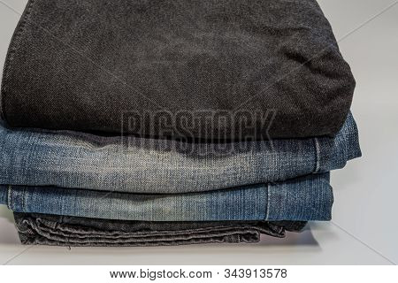 Closeup Of Denim Jeans