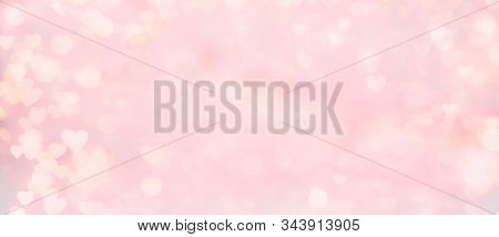 Abstract Texture Of Bokeh Lights. Valentine's Day Background. Sparkling Lights Background. Abstract