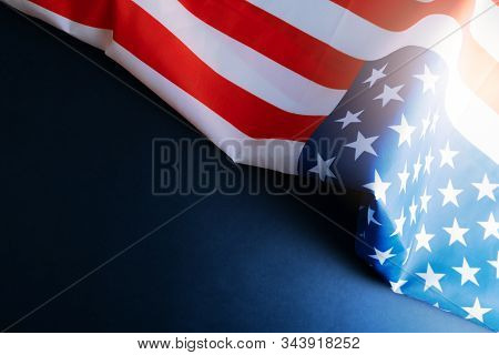 America Flag With Copyspace For National Holiday Presidents Day Concept Martin Luther King Day Conce