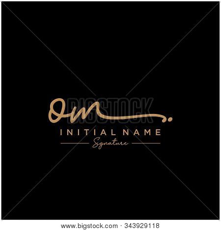 Letter Initial Om Signature Logo Template Vector