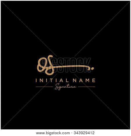 Letter Initial Os Signature Logo Template Vector