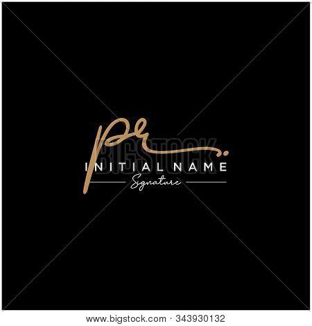 Letter Initial Pr Signature Logo Template Vector