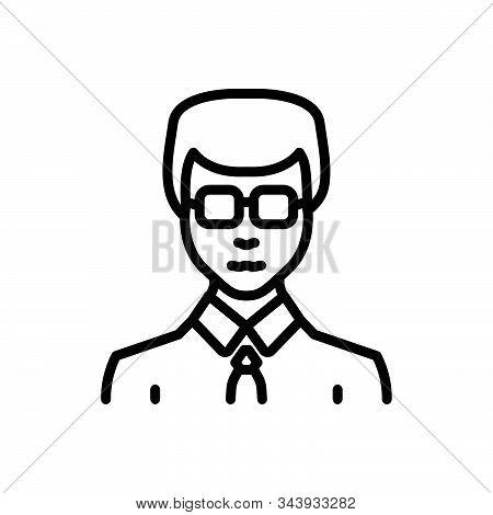 Black Line Icon For Businessman Entrepreneur Enterprising Zippy Vocational Sappy