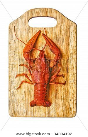 the red lobster on a cutting board poster