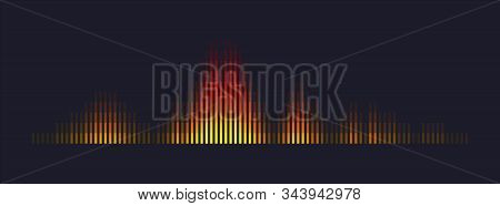 Abstract Sound Wave Visualization. Technology Audio Player Equalizer. Music And Voice Digital Signal