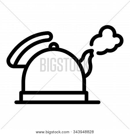 Boiling Keetle Icon. Outline Boiling Keetle Vector Icon For Web Design Isolated On White Background