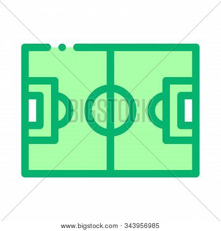 Football Field Icon Vector. Outline Football Field Sign. Isolated Contour Symbol Illustration