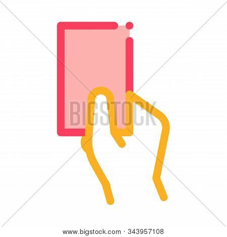 Arbitrator Show Card Card Icon Vector. Outline Arbitrator Show Card Sign. Isolated Contour Symbol Il