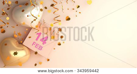 Happy Valentines Day, Valentines Day Background, Calendar February 14 Date, Heart Shape Balloon, Con