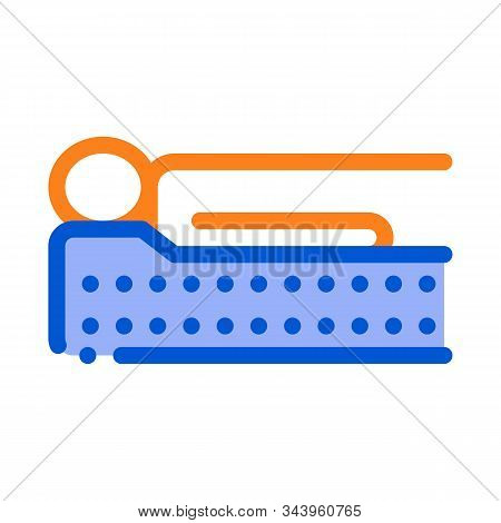 Human Lying On Mattress Icon Vector. Outline Human Lying On Mattress Sign. Isolated Contour Symbol I