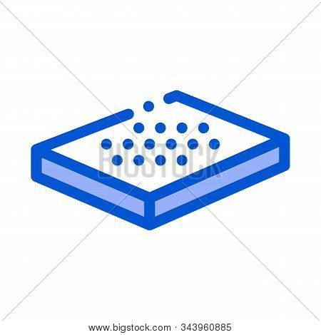 Bed Mattress Bedbugs Icon Vector. Outline Bed Mattress Bedbugs Sign. Isolated Contour Symbol Illustr