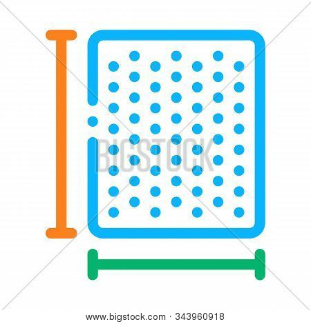 Mattress Width Length Icon Vector. Outline Mattress Width Length Sign. Isolated Contour Symbol Illus